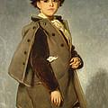 Edmond Dehodencq Wearing An Inverness Cape by Alfred Dehodencq
