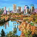 Edmonton In Fall by Nel Kwiatkowska