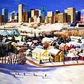 Edmonton In Winter by Nel Kwiatkowska
