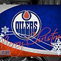 Edmonton Oilers Christmas by Joe Hamilton