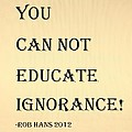 Educate Quote In Sepia by Rob Hans