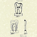 Educational Tooth 1938 Patent Art by Prior Art Design