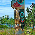 Edward Smarch Totem Pole At Teslin Tlingit Heritage Memorial Center In Teslin-yt by Ruth Hager