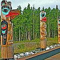 Edward Smarch Totem Poles At Teslin Tlingit Heritage Memorial Center In Teslin-yt by Ruth Hager