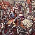 Edward V Rides Into London With Duke by Charles John de Lacy
