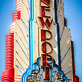 Edwards Big Newport Theatre Sign In Newport Beach by Paul Velgos