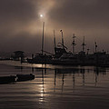 Eerie Morning Fog St. Augustine Marina by Stacey Sather