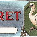 Egret Cigar Label by Label Art