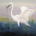 Egret In The Marsh by Linda McCarthy