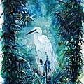 Egret by Zaira Dzhaubaeva