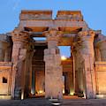 Egypt, Kom Ombo Sunset At The Egyptian by Emily Wilson