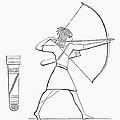 Egyptian Archer And Quiver.  From The Imperial Bible Dictionary, Published 1889 by Bridgeman Images