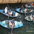 Egyptian Entrepreneurs At The Canal Locks by John Malone