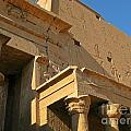 Egyptian Temple Architectural Detail by John Malone