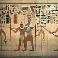 Egyptian Wall by Bill Jonas
