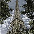 Eiffel Through Trees by Ken Johnson