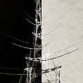 Eiffel Tower Abstract Bw by Andee Design