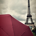 Eiffel Tower And Red Umbrella by Photo By Ira Heuvelman-dobrolyubova