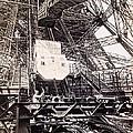 Eiffel Tower Elevator Shop C. 1888 by Daniel Hagerman