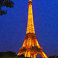 Eiffel Tower Illuminated by Safran Fine Art