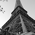 Eiffel Tower In Black And White by Jennifer Ancker