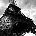 Eiffel Tower In Black And White. Ominous Sky Overhead by Toby McGuire