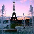 Eiffel Tower In Evening Light by Mike Marsden