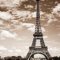 Eiffel Tower In Sepia by Elena Elisseeva