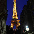Eiffel Tower Paris France At Night by Patricia Awapara