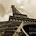 Eiffel Tower Paris France Black And White by Patricia Awapara