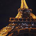 Eiffel Tower Paris France Illuminated by Patricia Awapara