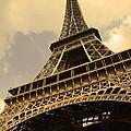 Eiffel Tower Paris France Sepia by Patricia Awapara