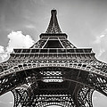 Eiffel Tower Paris In Black And White by Pierre Leclerc Photography