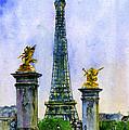 Eiffel Tower Paris by John D Benson