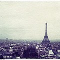 Eiffel Tower Paris Polaroid Transfer by Jane Linders