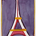 Eiffel Tower Purple Red by Robyn Saunders