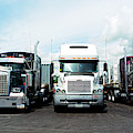 Eighteen Wheeler Vehicles On The Road by Panoramic Images