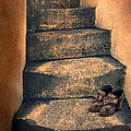 Eighteenth Century Shoes On Old Stairway by Jill Battaglia