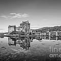 Eilean Donan Castle Black And White by Chris Thaxter