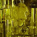 Einstein In Crystal - Yellow by Christi Kraft