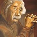 Einstein - Original  Oil Painting by Anthony Morretta