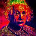 Einstein - Pop Art by Absinthe Art By Michelle LeAnn Scott