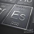 Einsteinium Chemical Element by Science Picture Co