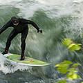 Eisbach Surfing by Hildie Hofmann