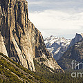 El Capitan And Half Dome by B Christopher
