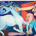 El Espectaculo De La Injusticia-triptico by Yamelin Gonzalez