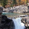 Elbow Falls In Autumn by Gerry Bates