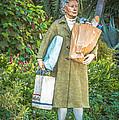 Elderly Shopper Statue Key West - Hdr Style by Ian Monk