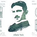 Electric Arc Lamp Patent Art Nikola Tesla by Justyna JBJart