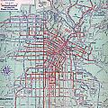 Electric Car And Bus Routes In La  by MotionAge Designs